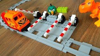 Поезда Мультики про Машинки Игрушки - Город машинок 290 серия Шлагбаум - Мультфильмы Лего для детей