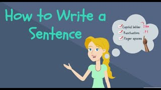 How to Write a Sentence for Kids   Kindergarten Writing