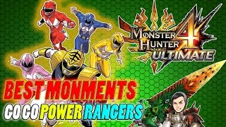 BEST MOMENTS-GO GO POWER RANGERS-Monster Hunter 4 Ultimate