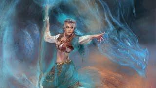 Digital Painting Timelapse - Summoning Of The Spirit - Spirit Dragon Illustration