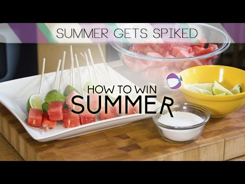 How to Win Summer: Spiked Watermelon Tequila Shots | Food Network