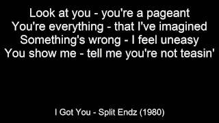 I Got You - Split Enz (with on screen lyrics)