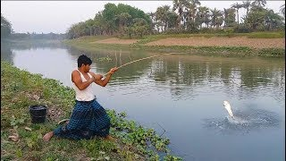 Hook Fishing | Boy Catching Giant Catfish by Hook