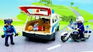 Мультики про машинки с игрушками Плеймобил - Нужно учиться! Игрушечные видео смотреть онлайн.