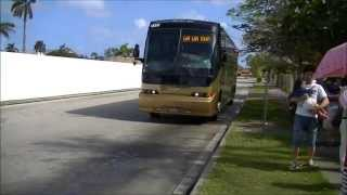 preview picture of video 'グアムのバス guam bus'