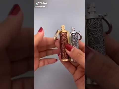 Вечная спичка / огниво брелок водонепроницаемая керосиновая Reusable Lighter (RL-25548) Video #1