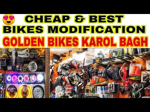 CHEAP AND BEST BIKE MODIFICATION AT KAROL BAGH | GOLDEN