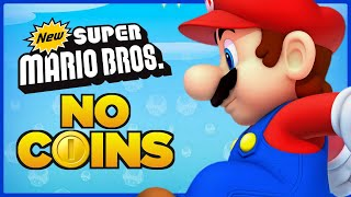 Is it possible to beat New Super Mario Bros. DS without touching a single coin?