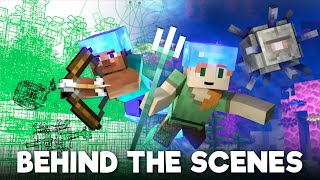 Ocean Monument: BEHIND THE SCENES (Minecraft Animations)