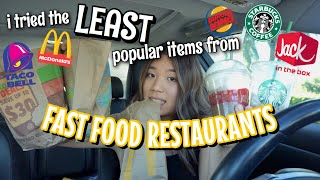 I Tried The LEAST Popular Items From Fast Food Restaurants | Vanessa Nagoya