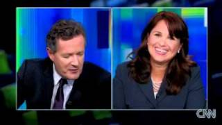 Christine O'Donnell Walks Off Interview with so called 'Rude' Piers Morgan www.RightFace.us