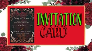 How To Make A Invitation Card In PHOTOSHOP CS6