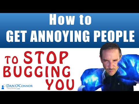 How to stop annoying People from Bugging You | Difficult Coworkers & Difficult People