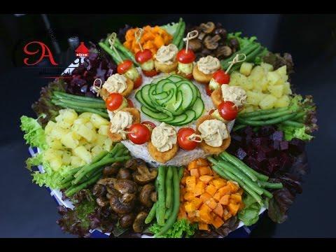 Marokkanischer Salat - bunte Salatplatte für besondere Anlässe