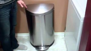 Simple Human Semi-Round Stainless Steel Trash Can Review