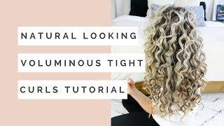 Natural Looking Voluminous Tight Curls Hair Tutorial