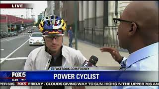 Man rides over Williamsburg Bridge for 24 hours in a row
