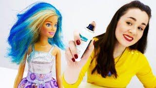 Синие волосы Барби для креативной вечеринки - Видео для девочек