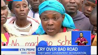 Katani residents hold protests over bad roads