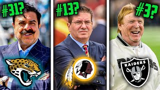 Ranking all 32 NFL Owners of 2020 from WORST to FIRST