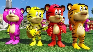 Colors tiger dancing and songs for children