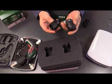 Bosch Akkuschrauber IXO mit Winkelaufsatz und Exzenteraufsatz