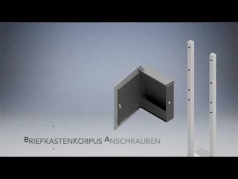 Montagevideo freihstehender Briefkasten B1