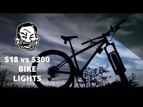 MTB Lights for Night Riding – $300 vs $18