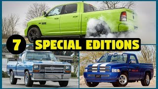 7 Special & Limited Edition Dodge Ram Pickup Trucks – PART 2!