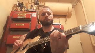 "Acoustic cover BATHORY ""Under the runes""."