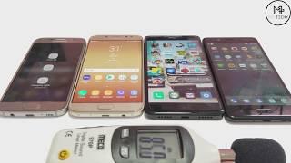 Samsung Galaxy J7 Pro VS Samsung Galaxy S7 vs Nokia 5 vs Redmi Note 4 - Speaker Audio Test