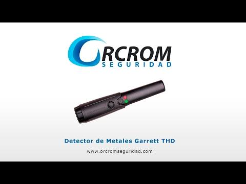 Detector de seguridad manual Garrett THD - Orcromseguridad.com