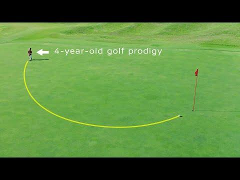 Der Golfball, der das Loch von selbst findet