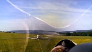 preview picture of video 'Knapper Segelflugzeugstart im F-Schlepp auf dem Ith'