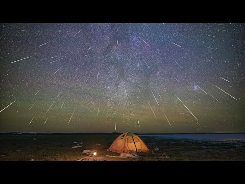 Live: Perseid meteor shower creates dazzling night sky