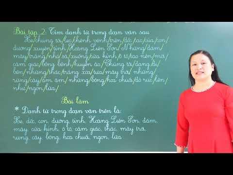 Môn Tiếng Việt lớp 4: Ôn tập về danh từ