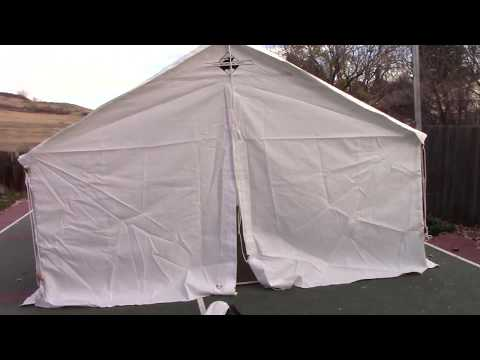 Canvas Tent Review – The Elk Mountain Tents Review and build of the 13 x 16 Wall Tent