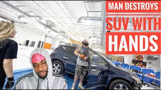 5 Ways to Destroy a Car with the World's Strongest Man! - REACTION