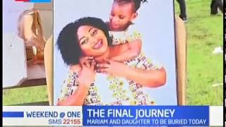 The burial ceremony of mother and daughter who died in the Likoni Ferry tragedy underway