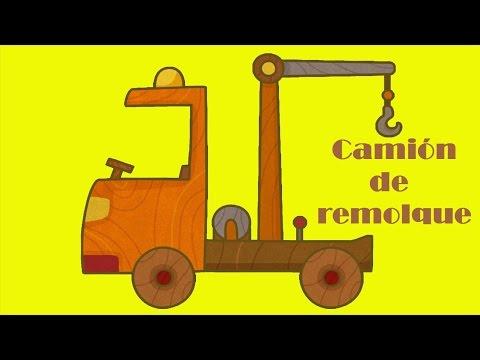 Series para niños. Camión de remolque. Dibujos animados de coches