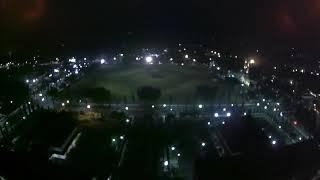 Mjx Bugs 3 pro terbang malam ditengah angin kencang alun-alun Kajen Pekalongan