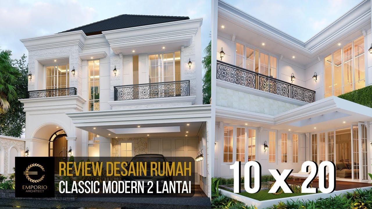 Video 3D Mrs. Suci Classic Modern House 2 Floors Design - Depok, Jawa Barat