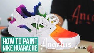 Custom Huarache | How To Airbrush A Rainbow Fade | Angelus Paint