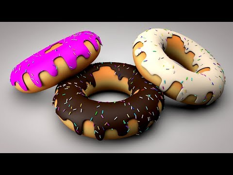 Cinema 4D Tutorial – How To Make Donuts |  C4D Tutorial