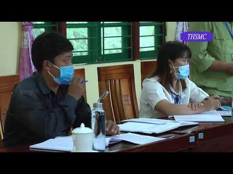 Thường vụ huyện ủy làm việc với Đảng ủy xã Nàn Sín
