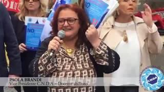 Vice Pres C.N.D.A Paola Brandi Intervento Sciopero