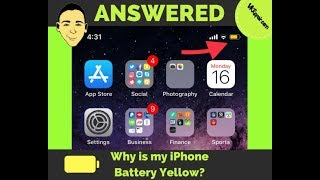 Why is my iPhone Battery Yellow? ANSWERED