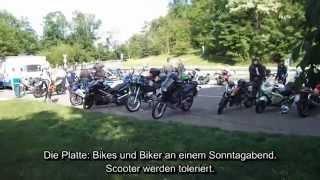 preview picture of video 'Biker-Treff Löwensteiner Platte: Ausflug in die Löwensteiner Berge BitfW'