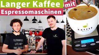 Langer Kaffee mit der Espressomaschine - Café crème oder Americano statt Lungo