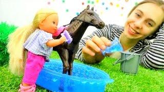 #ШТЕФФИ идет кататься на лошади. Видео для девочек, #пупсы и куклы Барби на Мамы и Дочки